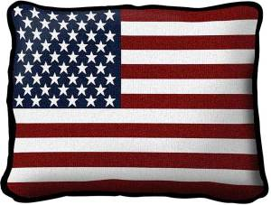 "American Flag Decorative | Throw Pillow | 17"" x 13"""