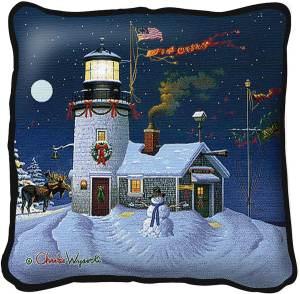 Take Out Window | Charles Wysocki | Christmas Pillow