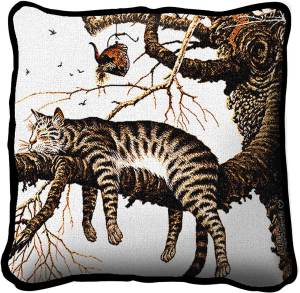 Charles Wysocki | Too Pooped To Participate | Throw Pillow | 17 x 17
