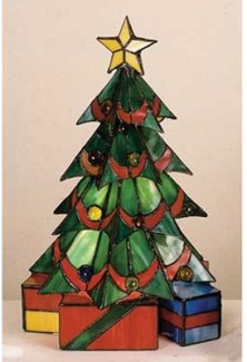 "Tiffany Christmas Tree Accent Lamp | 16""H X 10""W"