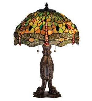 Hanginghead Dragonfly Tiffany Stained Glass Lamp