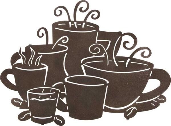 "Tara Reed | Cup Size Matters | 24"" | Coffee Cup Metal Wall Art"