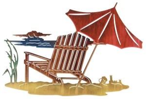 "Sandcastle (Adirondack Chair) 24"" | Metal Wall Art"
