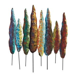 Dana-Contemporary Fir Tree Wall Decor - Metal