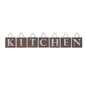Galvanized Metal KITCHEN Tile Wall Sign