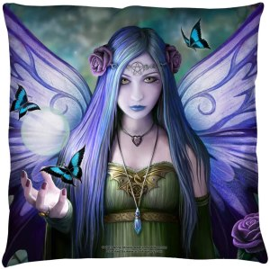 Anne Stokes Mystic Aura Fairy Throw Pillow