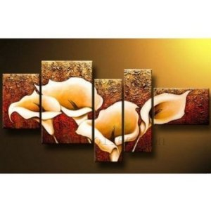 Calla Lily 5-Piece Gallery Wrapped Canvas Floral Art