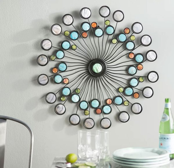 Modern Circles Metal Wall Art