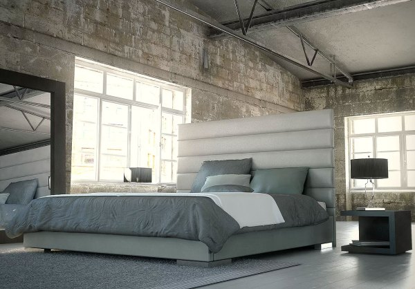 Modloft Prince Upholstered Platform Bed