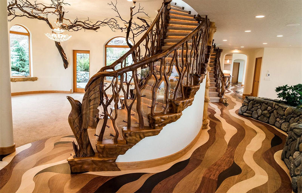 Nature-Inspired Staircase | Grand Staircases That Inspire