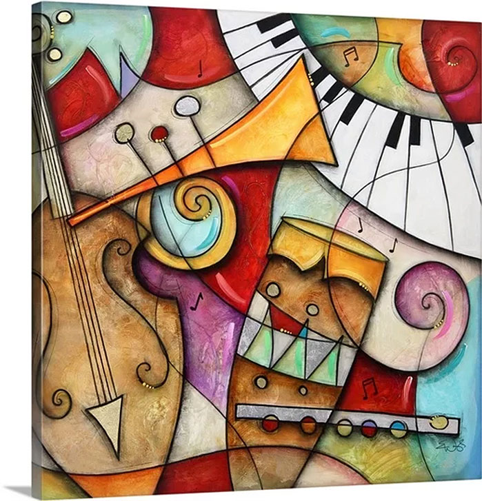Eric Waugh Art | Jazz Makers II Canvas Wall Art
