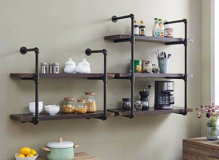 Industrial DIY Style Pipe Shelves The Easy Way