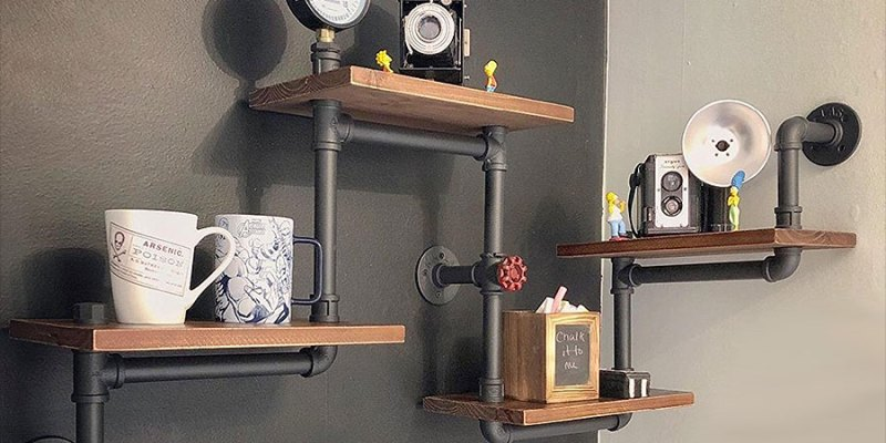 DIY Pipe Shelves The Easy Way