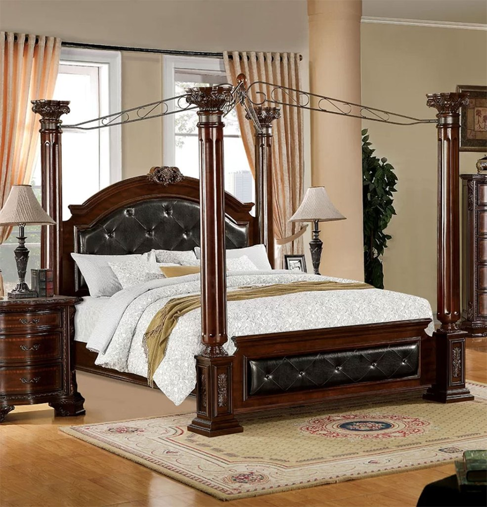 Classically Elegant Canopy Beds  Astoria Grand Edmore Upholstered Canopy Bed