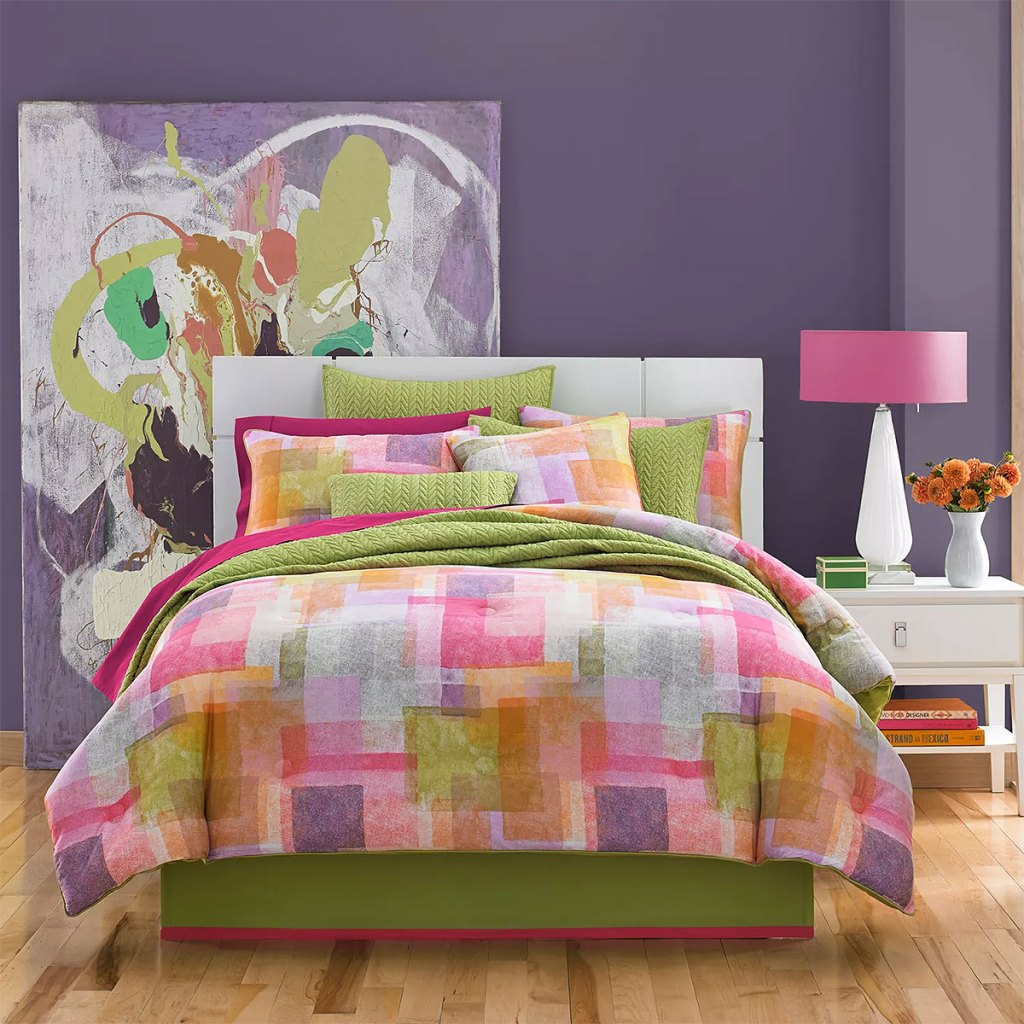 Colorful Patchwork Bedroom