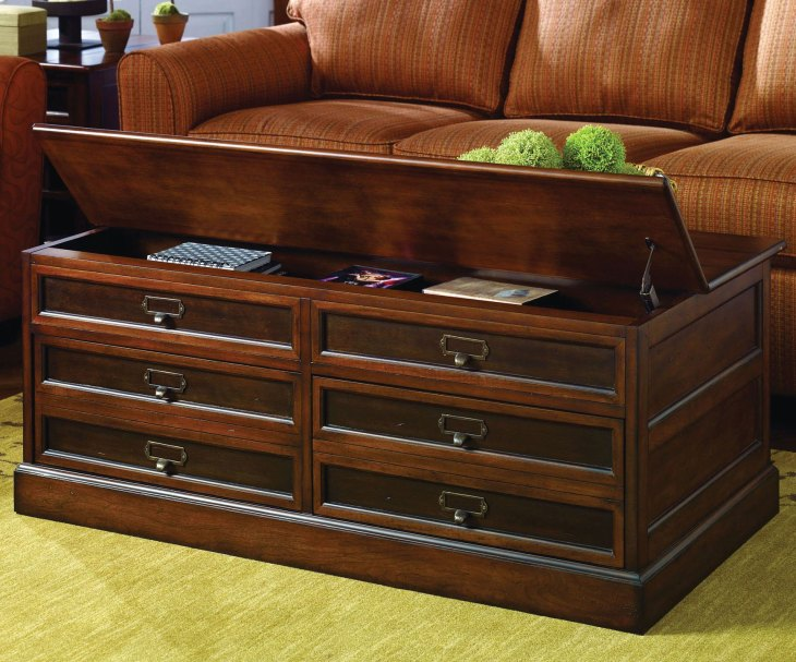 Modern Wooden Coffee Tables | Hammary Mercantile Rectangular Storage Coffee Table
