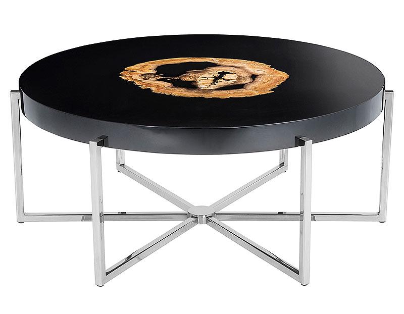 Petrified Wood Furniture: Coffee Table