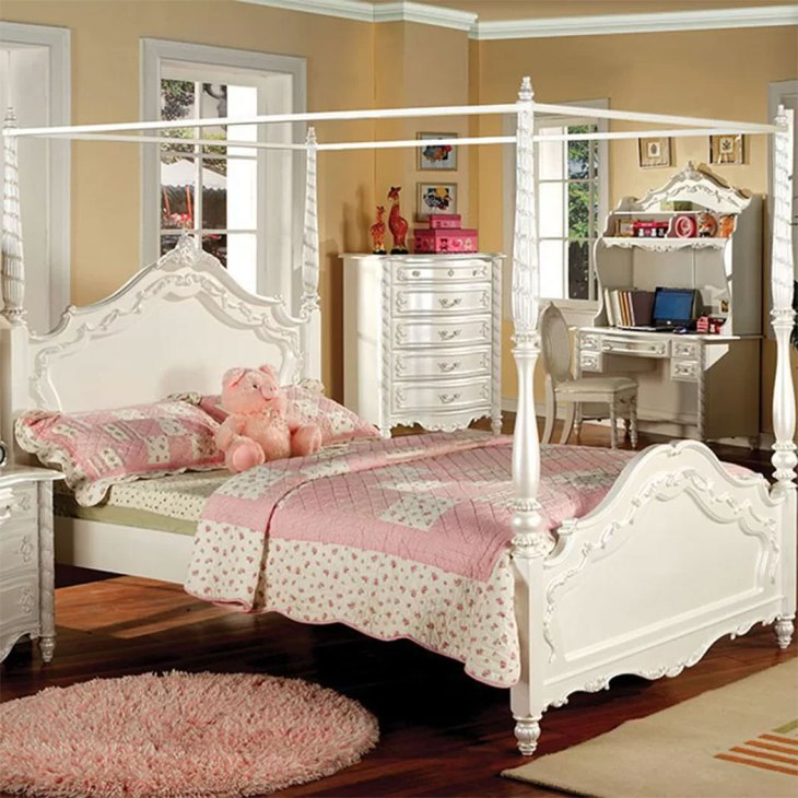 Classically Elegant Canopy Beds| Rosdorf Park Salome Twin Bed