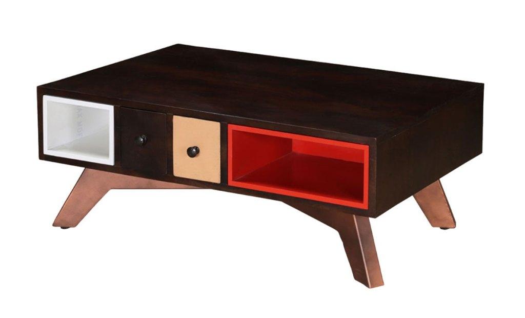 Modern Wood Coffee Tables | Sierra Living Concepts | Modern Colors Mango Wood Coffee Table with Drawers & Cubbies