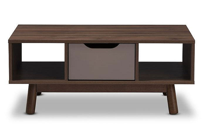 Retro Wooden Coffee Tables | Wrought Studio | Hilson Mid-Century Modern Wood Coffee Table