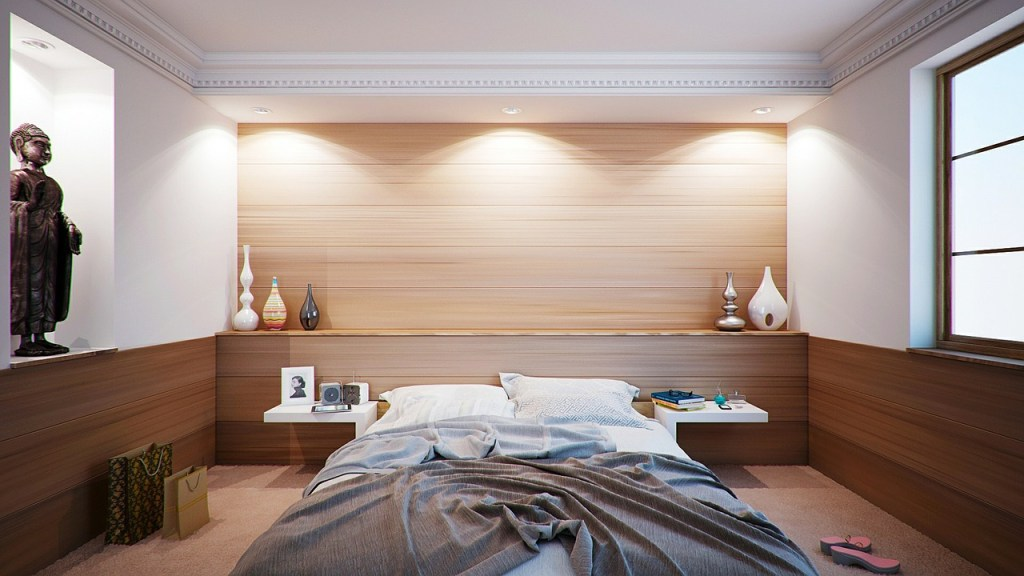 Beautiful Asian Inspired Paneled Bedroom