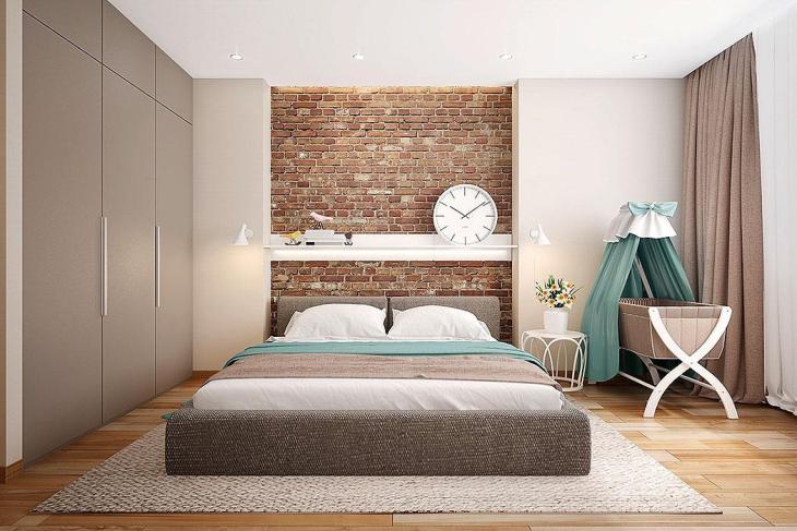 Brick Inset with Shelf