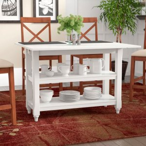 White Cherina Flip Top Dining Table