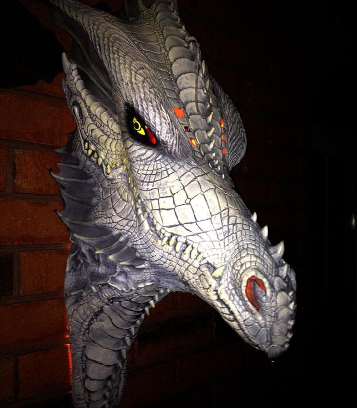 Dragon's Head Halloween Mask Decor