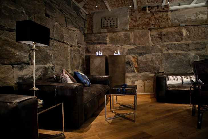 Exposed Stone Interior Walls