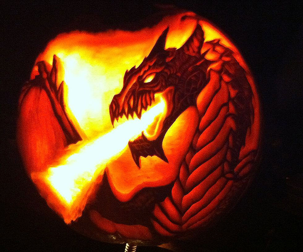 Fire Breathing Dragon Pumpkin