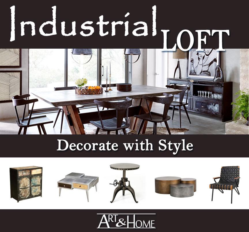 Industrial Loft Furniture & Home Decor Accents