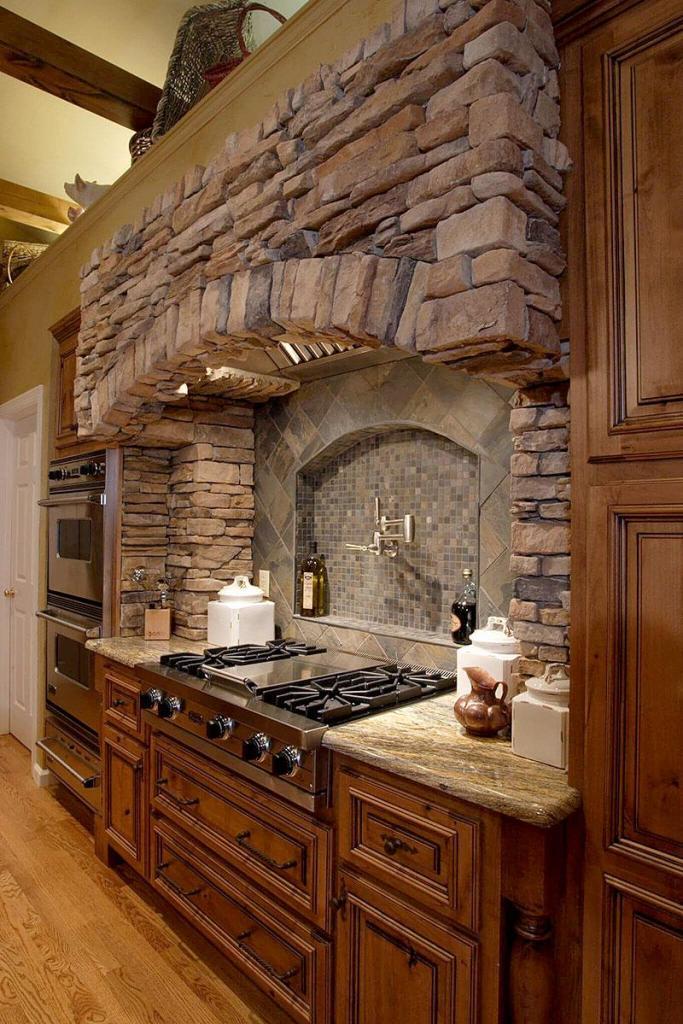 Italian Brick Kitchen