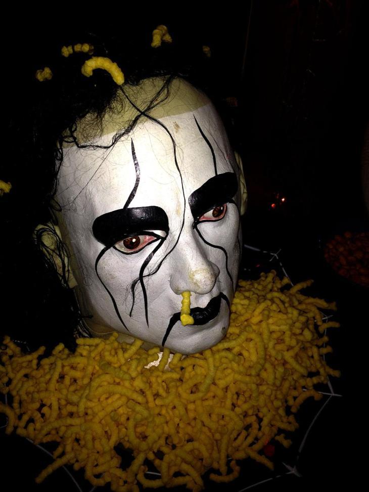 Severed Head on a Platter Halloween Decor