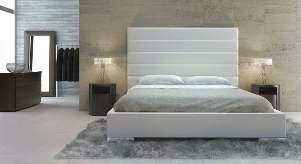 Modloft Prince Upholstered Leather Platform Bed