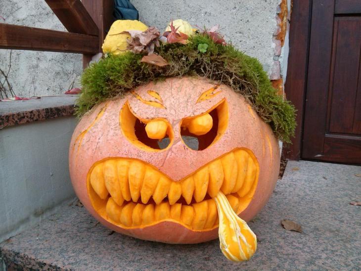 Pumpkin Carving Ideas Grumpy Pumpkin