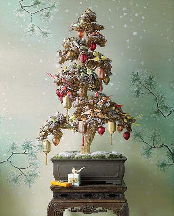 Asian-Inspired Bonsai Christmas Tree