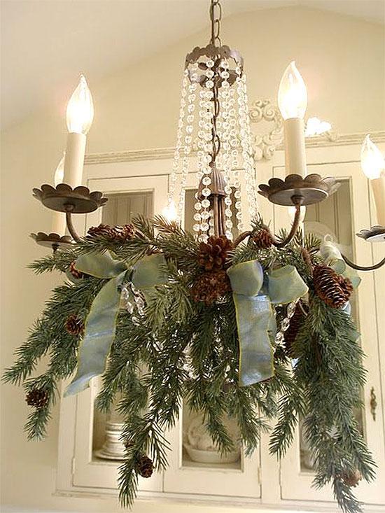 Elegantly Simple Christmas Chandelier