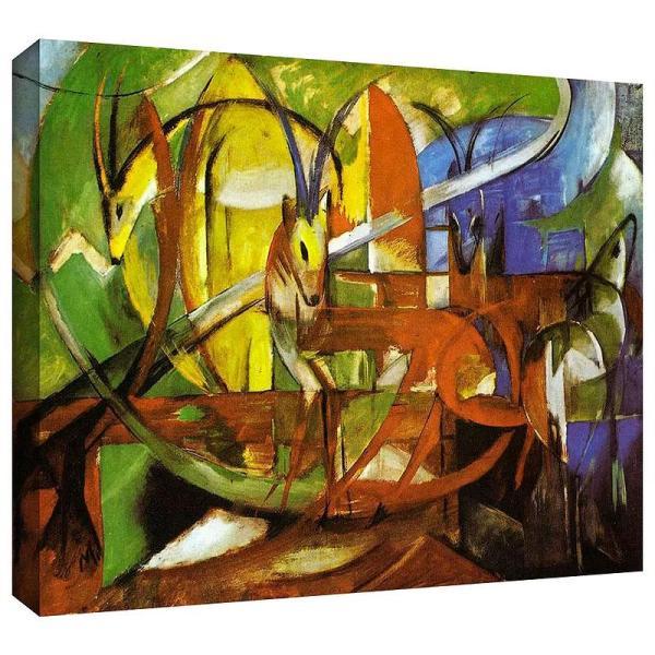Gazelles by Franz Marc Art Print on Canvas