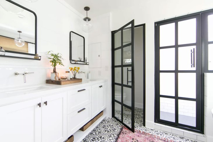 Industrial Black & White Bathroom