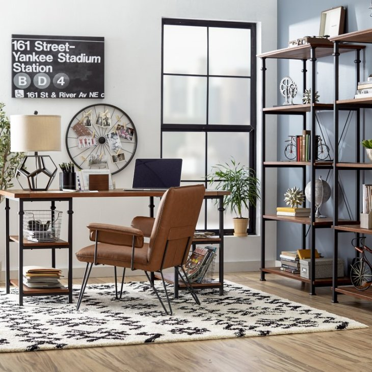 Industrial Home Office Decor Design