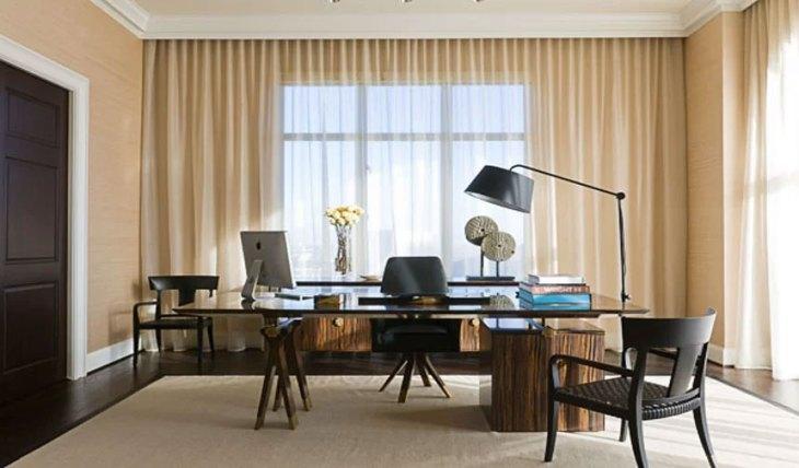 Modern Rustic Home Office Design