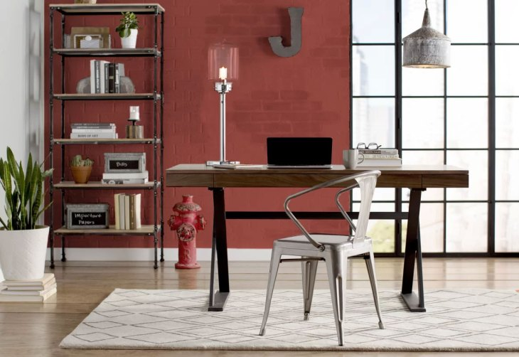 Red Industrial Office Design