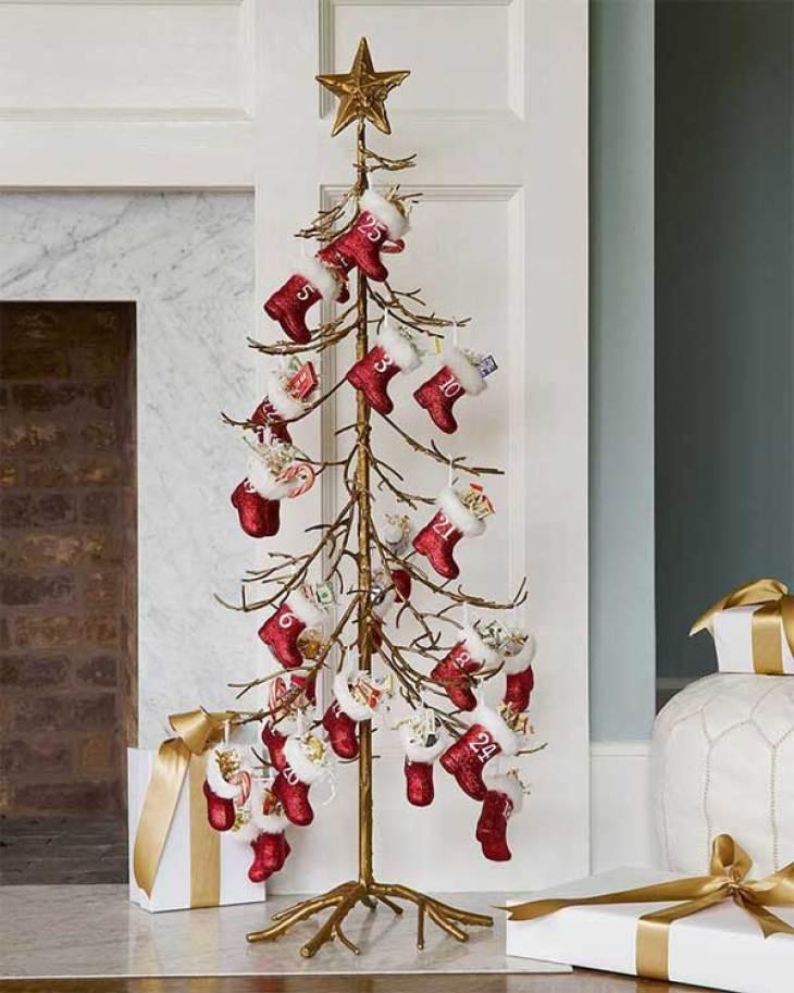 The Santa Boot Advent Calendar Christmas Tree