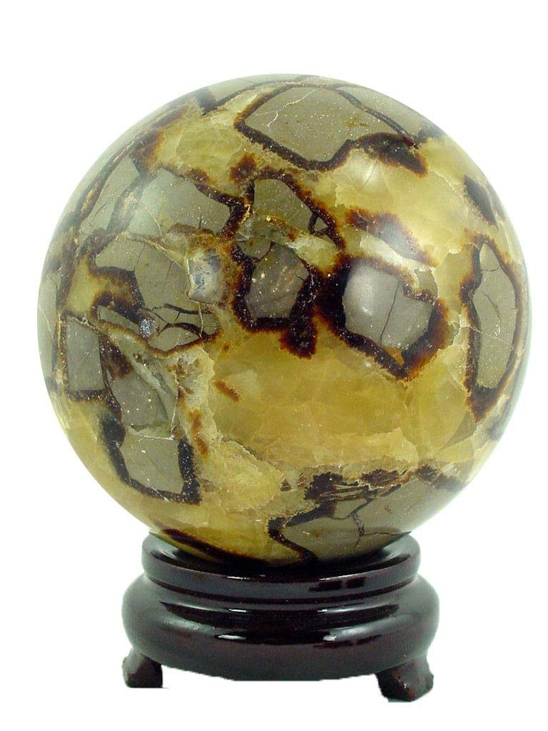 """Natural Dragon Stone 4.3"""" Carved Healing Sphere"""