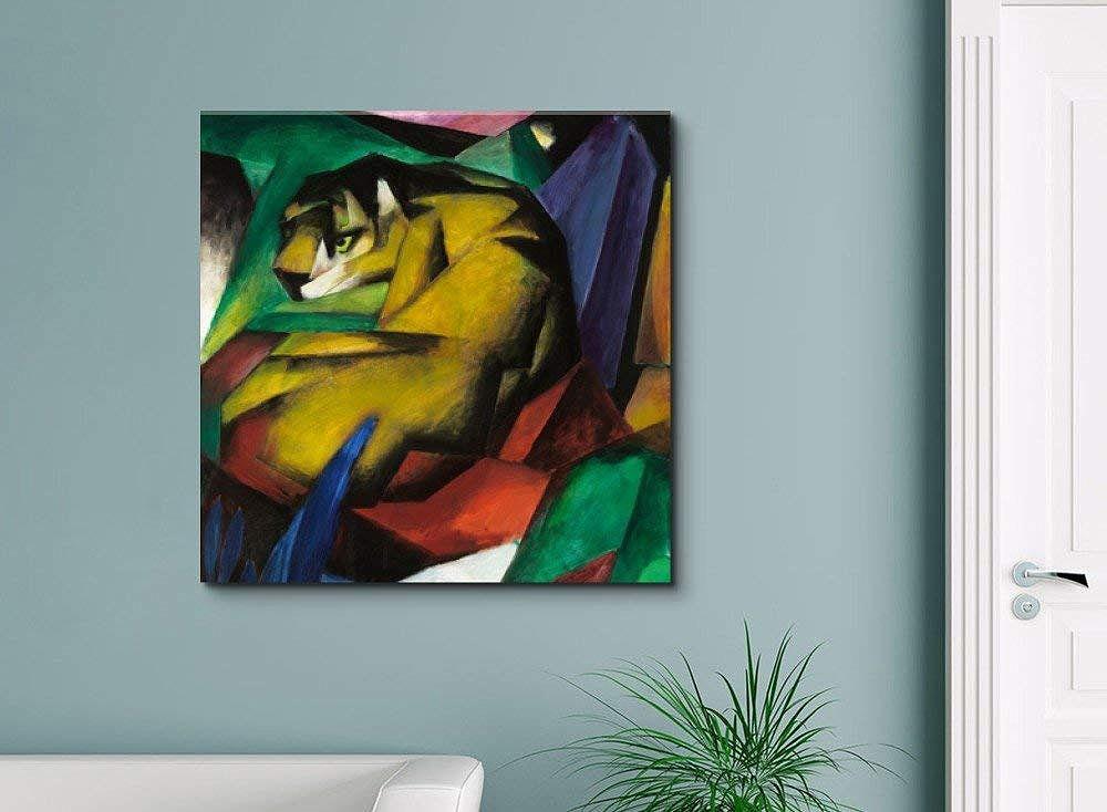 The Tiger By Franz Marc Canvas Art Print Shop Home Decor Art