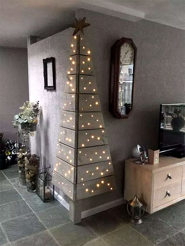 Wall Mounted Corner Christmas Tree