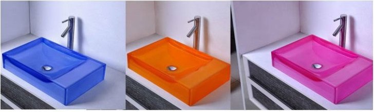 Colorful Resin Counter Top Sinks