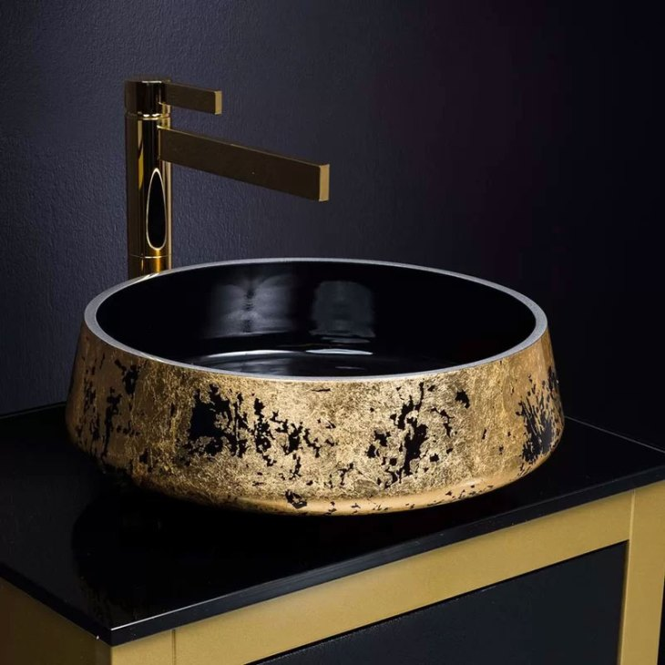 Lux Metal Circular Vessel Bathroom Sink