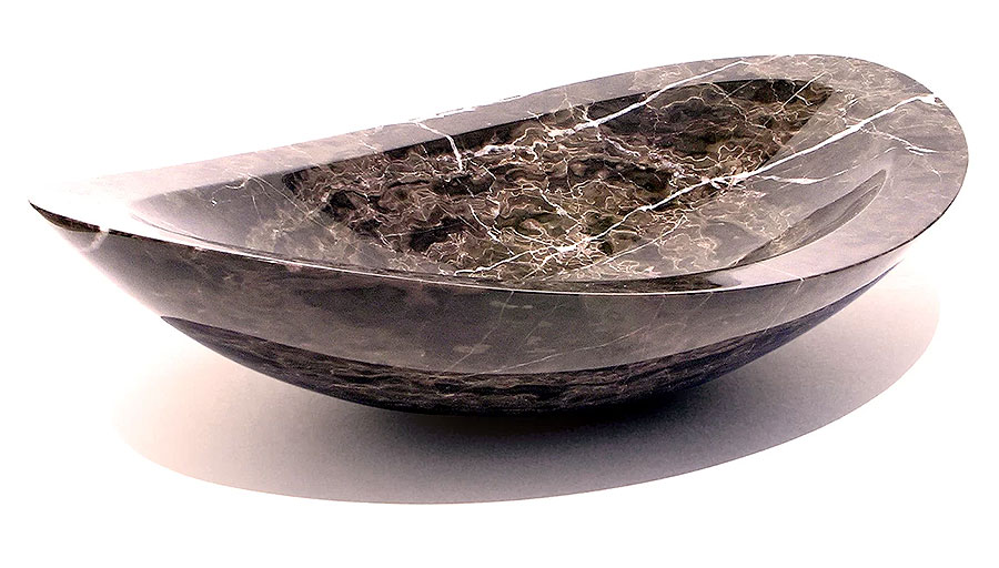 Natural Stone Oval Vessel Bathroom Sink