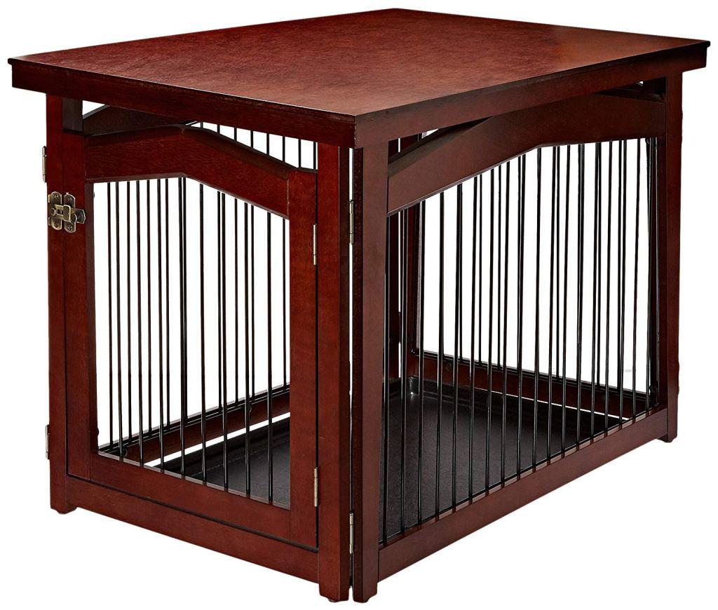 2-in-1 Configurable Decorative Dog Crate & Gate
